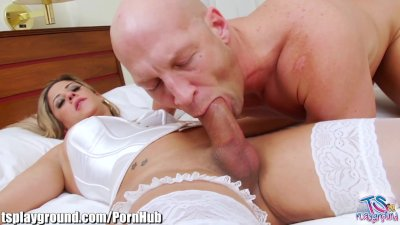 TSPlayground Guy Ass Fucked by Tgirl in Lingerie