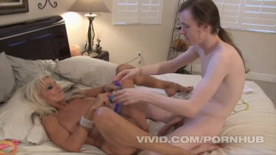 Sexy Sally D'Angelo finds a big dick on a young boy