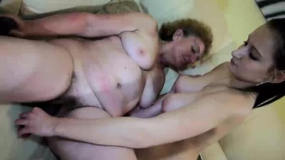 Old Granny with young Girl, granny masturbate with a toy and with young Gir