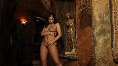 Sexy Aria Giovanni strips off her sexy dress show her body