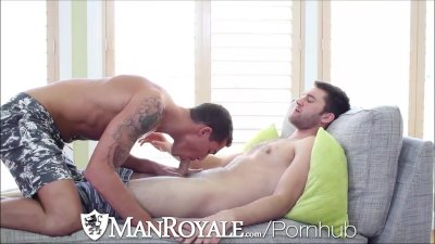 ManRoyale Stud caught taking naked pics gets fucked