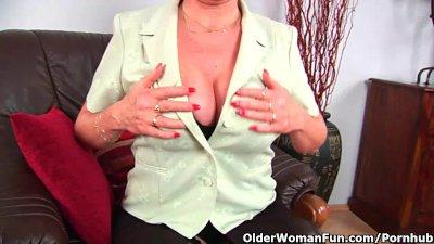 Grandma In Stockings Massages