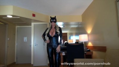 Wifey As Cat Woman Gets Fucked And Swallows Cum