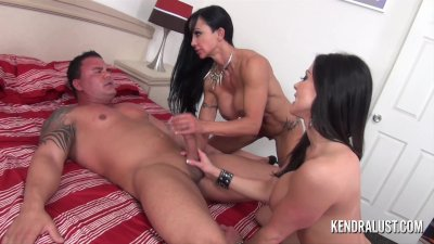 Kendra Lust and Jewels Jade Handjob and face sitting