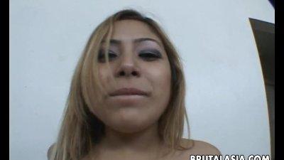 Beautiful Asian slut gets fuck