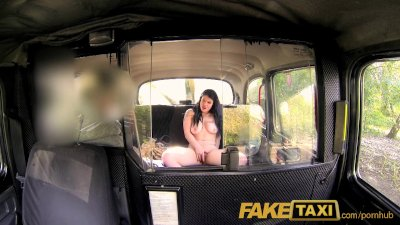 Busty Car Cumshot video: FakeTaxi Her choice is get out and walk or suck his cock