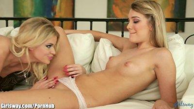 Girlsway Jessa Rhodes breaks in Frigid Lesbian