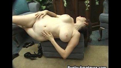 Katryn strips and masturbates