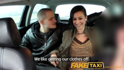 Cumshot Doggy Orgasm video: FakeTaxi Horny couple take taxi home where girlfriend is shared