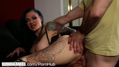 Tattooed Step-Mom Tests out Sons Big Dick