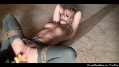 Ally bound ballgagged whipped stripped dildoed vibed machine-fucked