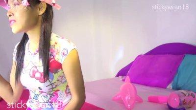 StickyAsian18 compilation girl