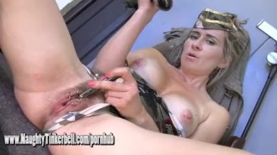 Naughty army girl Tinkerbell f