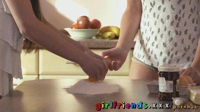 Girlfriends sweet girls baking