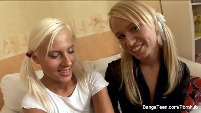 Pigtailed blonde sluts love to