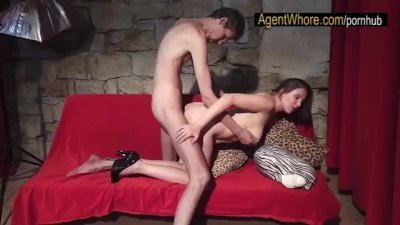 BJ, hanjob and pussy fuck from BUSTY wife