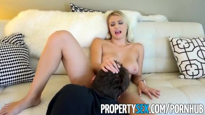 Masturbation Hardcore Blonde video: PropertySex - Polish beauty uses tight pussy on landlord to get apartment