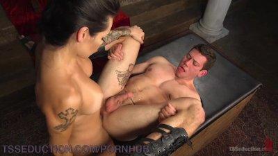 TS Goddess Completely Dominates Man Slave