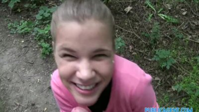 Pov Public Babe video: PublicAgent Innocent looking teen fucking in the woods