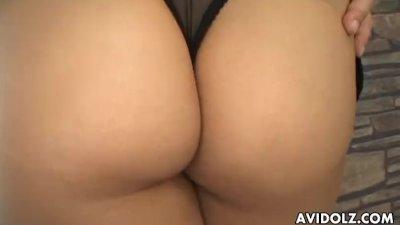 Asian slut with a huge ass fuc